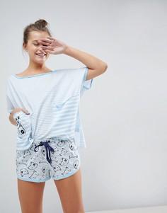 Пижама с футболкой и шортами ASOS - Мульти