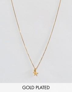 Позолоченное ожерелье с подвеской Dogeared - Золотой