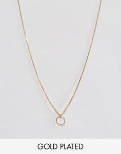 Позолоченное ожерелье Dogeared - Золотой
