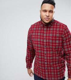 Свободная вельветовая рубашка в клетку ASOS DESIGN PLUS - Красный