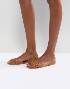Летние кожаные туфли ASOS JUNA - Рыжий