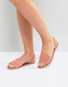 Кожаные летние туфли ASOS JOVENA - Розовый