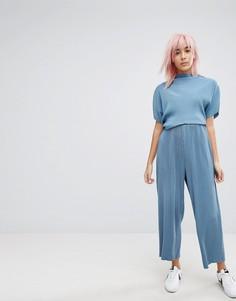 Плиссированные брюки Weekday - Синий