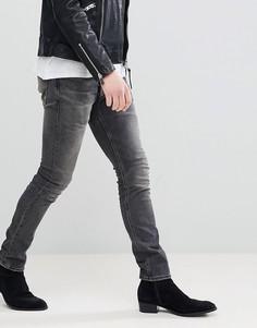 Черные выбеленные джинсы скинни AllSaints - Черный