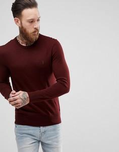 Бордовый джемпер из 100% мериносовой шерсти AllSaints - Красный