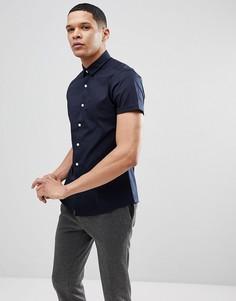 Узкая темно-синяя рубашка с короткими рукавами ASOS - Темно-синий