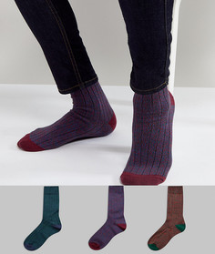 Набор из 3 пар фактурных носков ASOS - Мульти