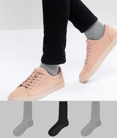 3 пары цветных носков из вафельного трикотажа ASOS - Мульти