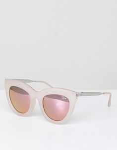 Солнцезащитные очки кошачий глаз Quay Australia Eclipse - Розовый