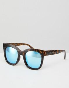 Солнцезащитные очки в черепаховой оправе Quay Australia Sagano - Коричневый