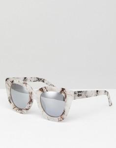 Солнцезащитные очки с мраморным эффектом Quay Australia Sugar And Spice - Розовый