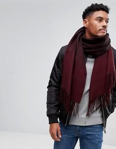 Бордовый шарф с эффектом омбре ASOS - Красный