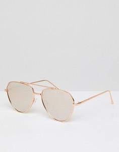 Солнцезащитные очки-авиаторы с зеркальными стеклами ASOS - Золотой