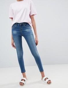 Укороченные джинсы скинни Waven Freya - Синий