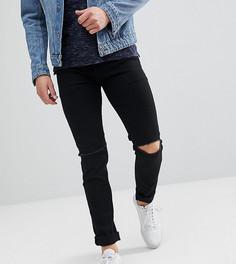 Черные джинсы скинни с рваными коленями Noak - Черный