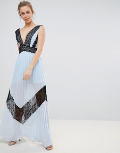 Платье макси с кружевной вставкой Glamorous - Синий
