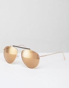 Квадратные солнцезащитные очки в золотистой оправе AJ Morgan Skyward - Золотой