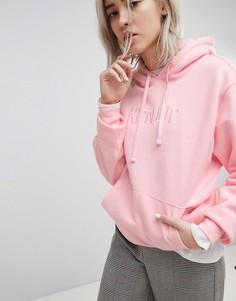 Oversize-худи с вышитым логотипом Rip N Dip - Розовый