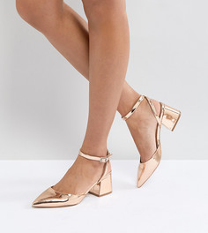 Туфли на среднем каблуке ASOS SCARLETTE - Золотой
