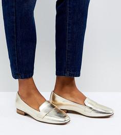 Туфли на плоской подошве ASOS MILESTONE - Золотой