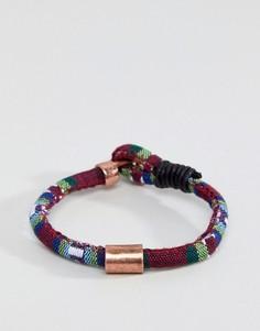 Разноцветный плетеный браслет Icon Brand эксклюзивно для ASOS - Мульти