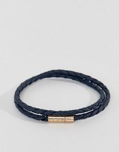 Темно-синий браслет в несколько оборотов с золотистой отделкой Icon Brand - Темно-синий