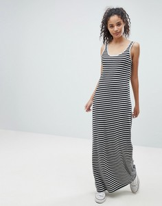 Платье макси в полоску Only Abbie - Черный