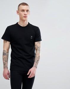 Черная футболка с логотипом на кармане G-Star BeRaw - Черный