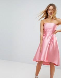 Платье для выпускного с открытыми плечами Vero Moda - Розовый