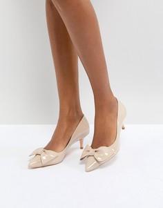 Туфли на каблуке с бантом Dune London - Кремовый
