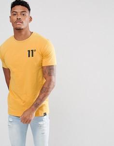 Желтая обтягивающая футболка 11 Degrees - Желтый