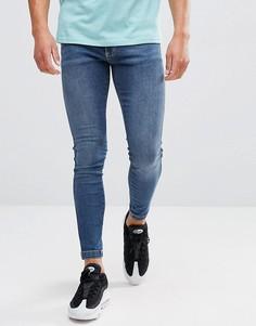 Обтягивающие джинсы 11 Degrees - Синий