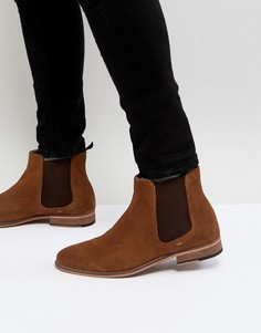 Светло-коричневые замшевые ботинки челси Walk London - Рыжий