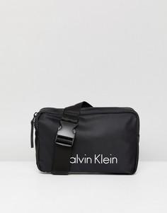 Черная сумка-кошелек на пояс Calvin Klein - Черный