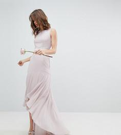 Платье макси с асимметричным подолом TFNC WEDDING - Коричневый