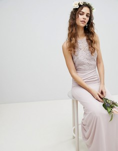 Платье макси со шнуровкой на спине TFNC - Коричневый