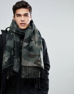 Камуфляжный шарф Jack & Jones - Серый