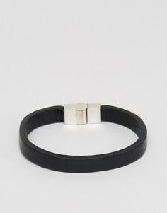 Кожаный браслет Jack & Jones - Черный