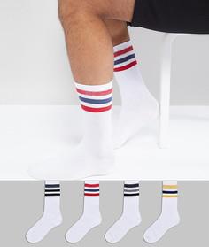 Набор из 4 пар носков с полосками Jack & Jones - Мульти