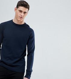 Джемпер с рукавами реглан Selected Homme TALL - Темно-синий