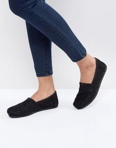 Черные кружевные туфли TOMS - Черный