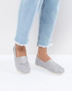 Туфли с кружевом TOMS - Серебряный
