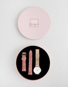 Подарочный набор с часами и сменными ремешками CLUSE X Negin CLG006 Minuit - Золотой