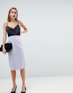 Комбинируемая юбка-карандаш ASOS - Серый