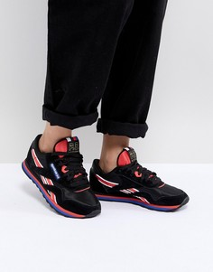 Черные классические нейлоновые кроссовки Reebok X P.E Nation - Черный