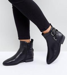 Ботинки с пряжками New Look Wide Fit - Черный