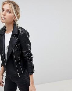 Байкерская куртка из полиуретана Morgan - Черный