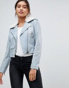 Байкерская куртка из полиуретана Morgan - Синий