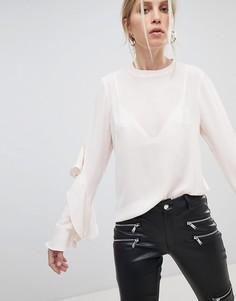 Блузка с расклешенными рукавами Morgan - Розовый