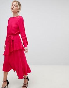Платье с оборками Morgan - Красный